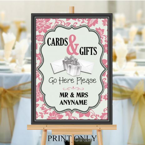 Personalised Wedding Cards & Gifts Sign Poster Banner - Print N185